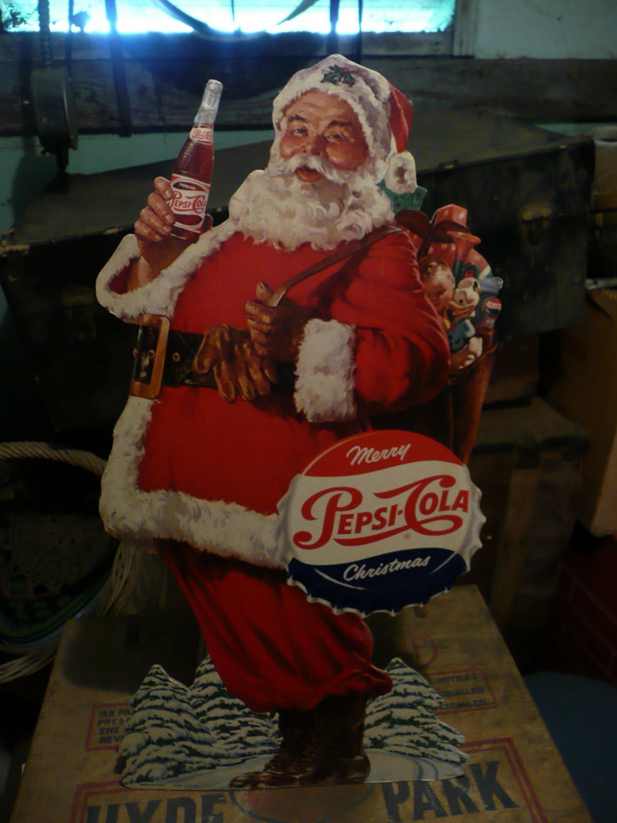 Pepsi-Cola Santa Claus display - date unknown